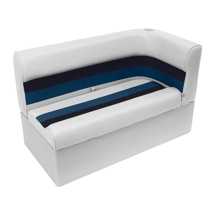 Wise 8WD107-1008 Deluxe Pontoon Series Left Radius Lounge Section - Aftermarket Pontoon Furniture