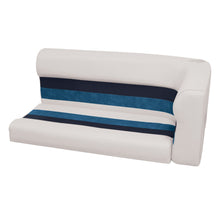 Wise 8WD107-2-1008 Deluxe Pontoon Series Left Radius Lounge Section Cushions - Aftermarket Pontoon Furniture