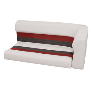 Wise 8WD107-2-1009 Deluxe Pontoon Series Left Radius Lounge Section Cushions - Aftermarket Pontoon Furniture