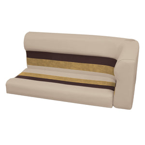 Wise 8WD107-2-1010 Deluxe Pontoon Series Left Radius Lounge Section Cushions - Aftermarket Pontoon Furniture