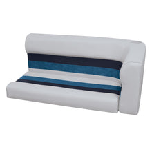 Wise 8WD107-2-1011 Deluxe Pontoon Series Left Radius Lounge Section Cushions - Aftermarket Pontoon Furniture