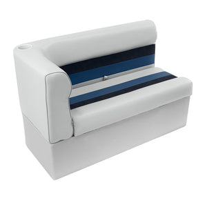 Wise 8WD108-1008 Deluxe Pontoon Series Right Radius Lounge Section - Aftermarket Pontoon Furniture