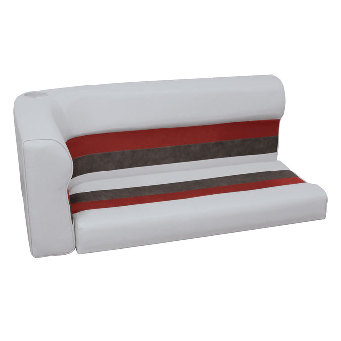 Wise 8WD108-2-1012 Deluxe Pontoon Series Right Radius Lounge Section Cushions - Aftermarket Pontoon Furniture