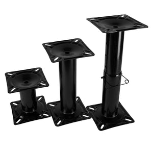 Wise Marine 8WD1250 / 8WD1251 / 8WD1255 Black Powder Coated Steel Pedestal Collection