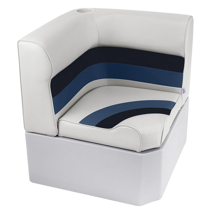 Wise 8WD133-1008 Deluxe Pontoon Series Radius Corner Section - Aftermarket Pontoon Furniture