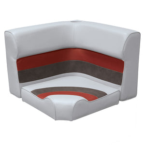 Wise 8WD133-2-1012 Deluxe Pontoon Series Radius Corner Section Cushions Only - Aftermarket Pontoon Furniture