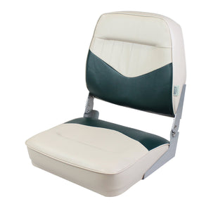 Wise 8WD418-802 Low Back Boat Seat - Khaki / Green