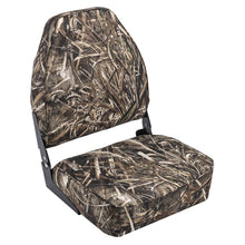Wise 8WD617PLS-733 High Back Camo Boat Seat - Realtree Max 5