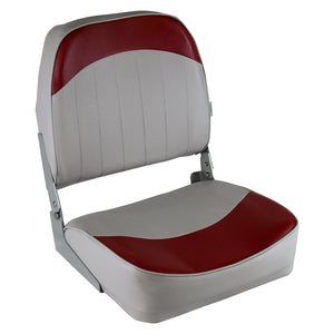 Wise 8WD734PLS-661 Low Back Boat Seat - Grey / Red