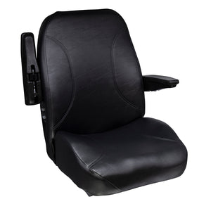 Wise Industrial WM1668 Trimline Low Back Seat - Arm Up View