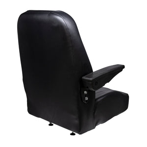 Wise Industrial WM1668 Trimline Low Back Seat - Rear Left View