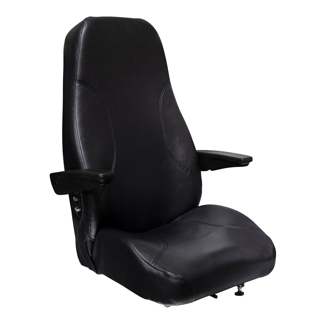 Wise Industrial WM1669 Trimline High Back Seat w/ Arm Rests & Recline