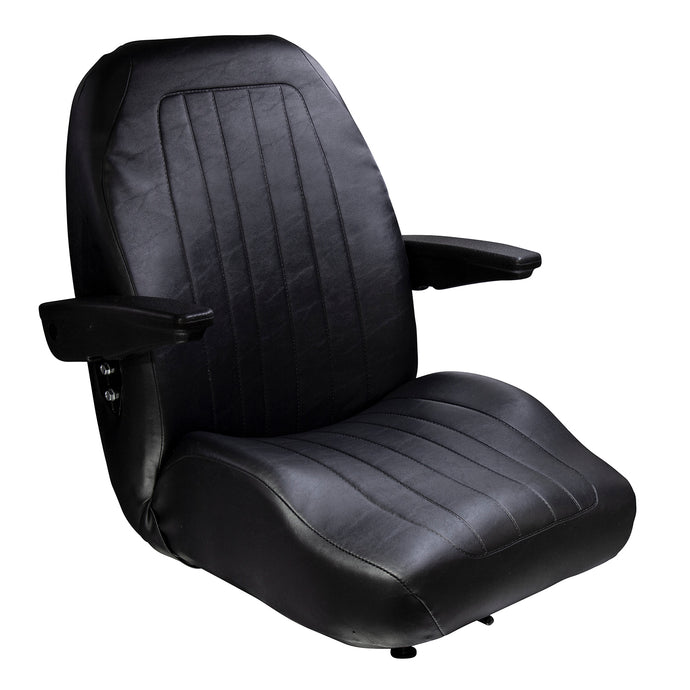 Wise Industrial WM1671 Trimline Low Back Seat w/ Arm Rests
