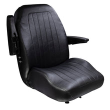 Wise Industrial WM1671 Trimline Low Back Seat - Arm Up View
