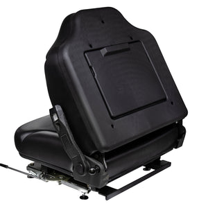 Wise Industrial WM1695 Clark Style Suspension Seat Assembly - Folded View