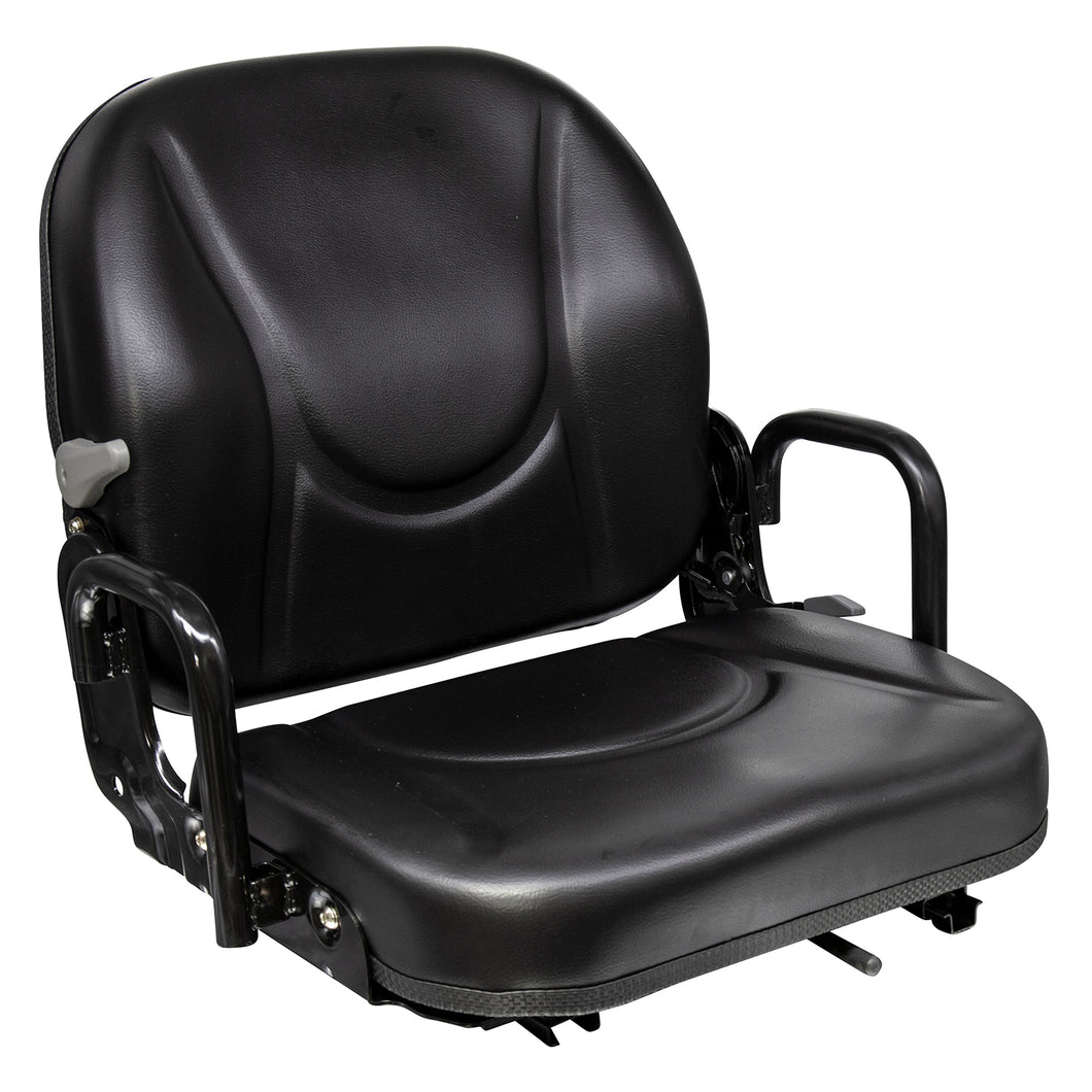Wise Industrial WM1830 Doosan Style Fold Down Seat Assembly w/ Hip Restraints & Delta Switch