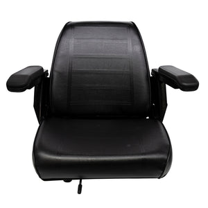 Wise Industrial WM684 Universal Bucket Seat Assembly w/ Armrests - Front View