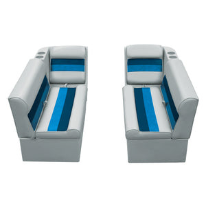 "Wise WS13528-1011 Deluxe Series Pontoon | 36"" Bench & Lean Back Set"