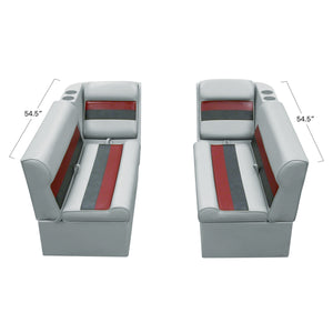 "Wise WS13528-1012 Deluxe Series Pontoon | 36"" Bench & Lean Back Set"