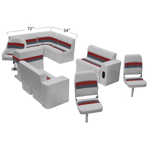 Wise WS13575-1012 Deluxe Series Pontoon | Complete Fishing Boat Group