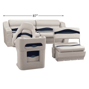 Wise WS14008-986 Premier Series Pontoon | Traditional Rear Seat Group
