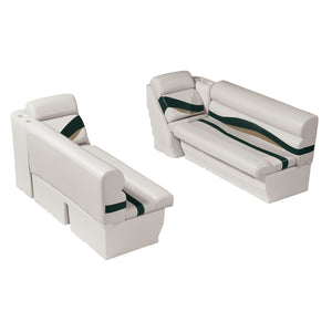 "Wise WS14011-988 Premier Series Pontoon | 50"" Bench & Lean Back Set"
