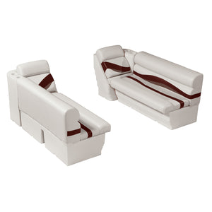 "Wise WS14011-989 Premier Series Pontoon | 50"" Bench & Lean Back Set"