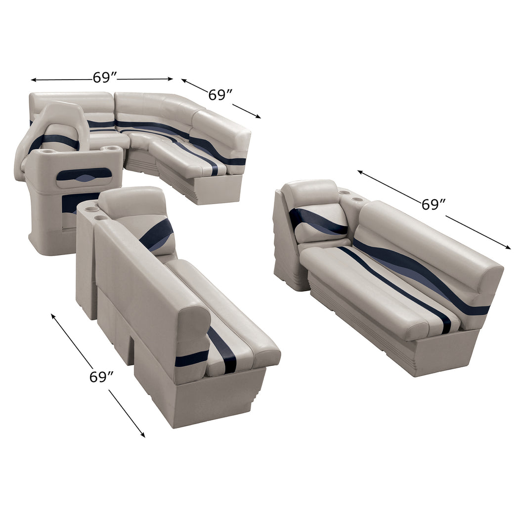 Wise WS14016-986 Premier Series Pontoon | 8.5' Wide Rear Entry Group