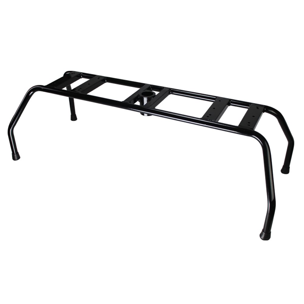 8WD1280 - Wise Double Seat Stand - Black Powder Coated