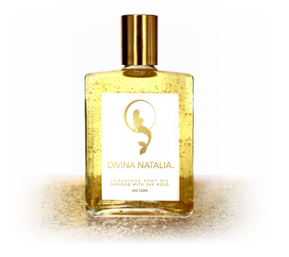 Divina Natalia Luxurious Body Oil Infused with 24K Gold