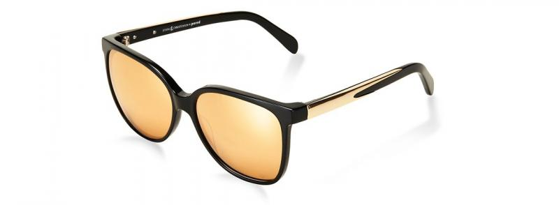 SWALLOW EYE02 | Black/Gold w/ GOLD MIRROR LENSES