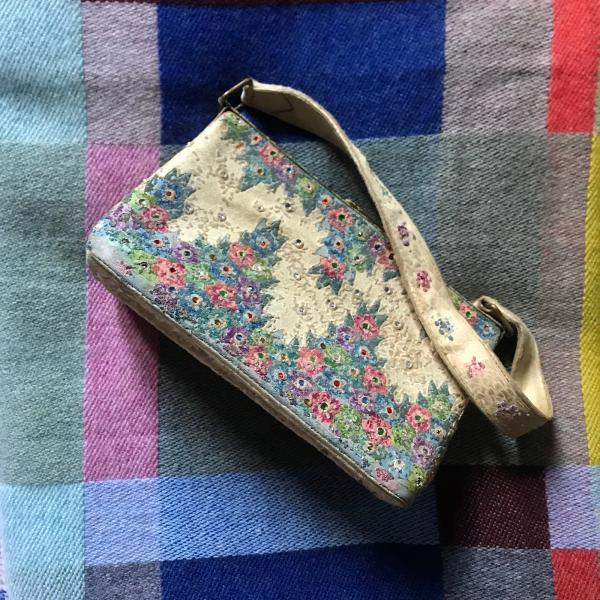 Vintage Silk Evening Bag