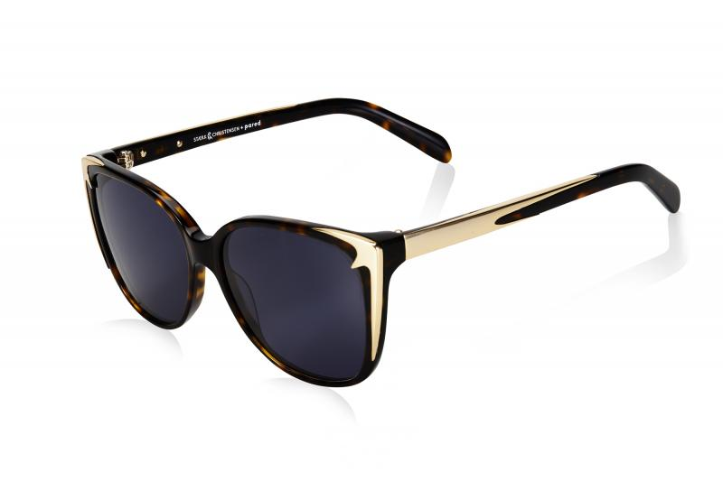 SWALLOW EYE01 | Tortoise/Gold W/ SOLID GREY LENSES