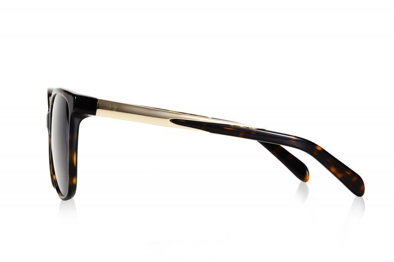 SWALLOW EYE02 | Tortoise/Gold W/ SOLID GREY LENSES