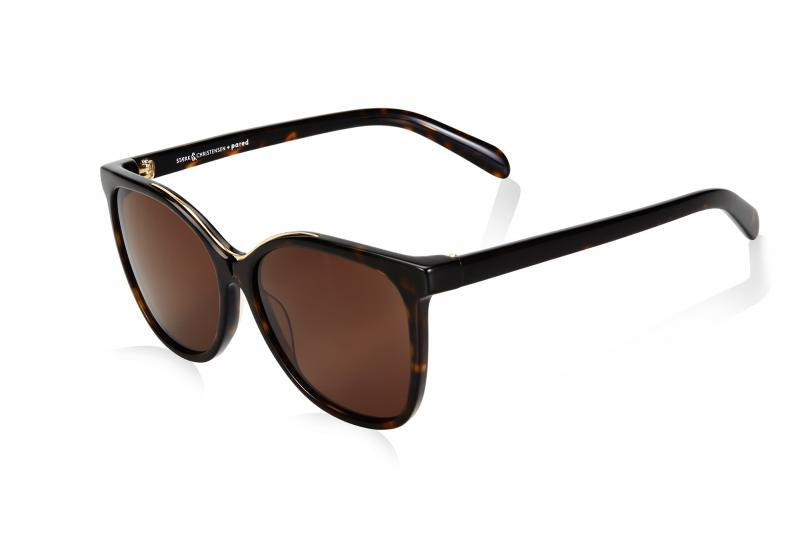 SWALLOW EYE03 | Tortoise/Gold W/ SOLID BROWN LENSES