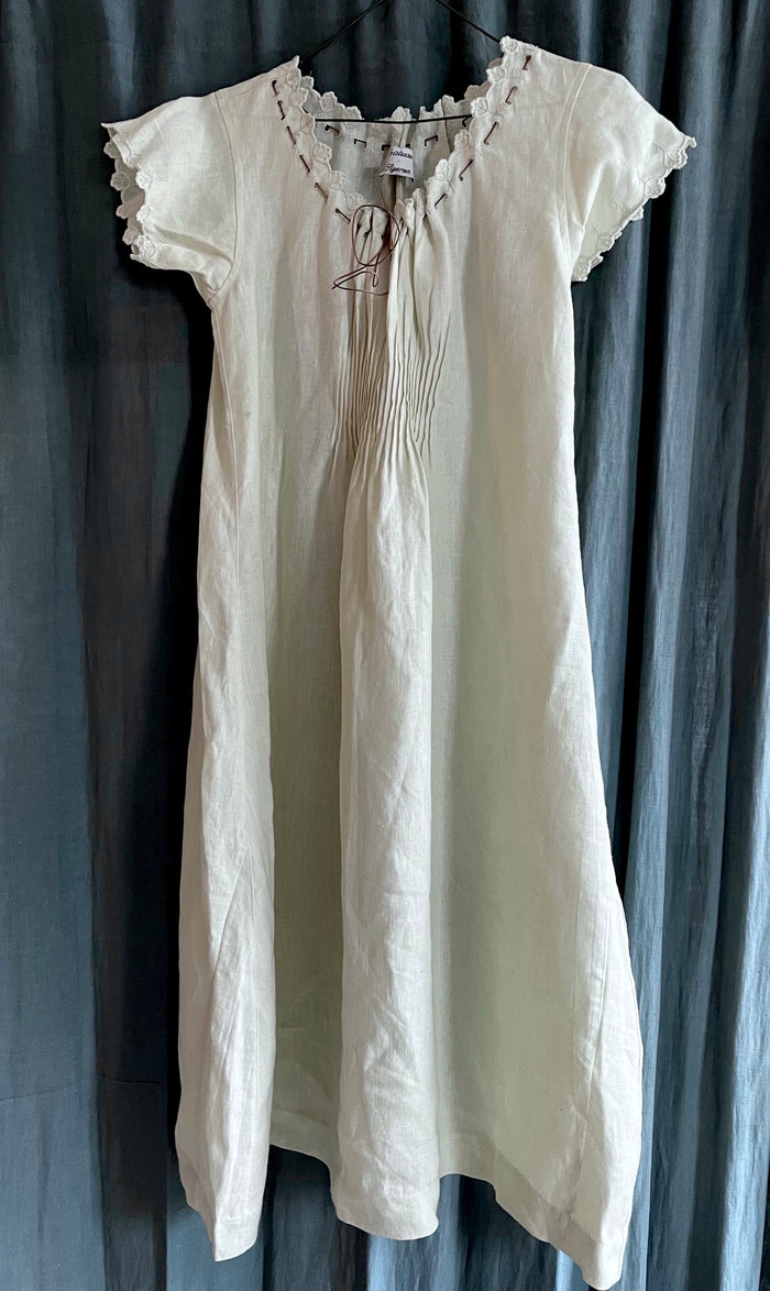 PAWN | LOVELY C&S WHITE LINEN DRESS