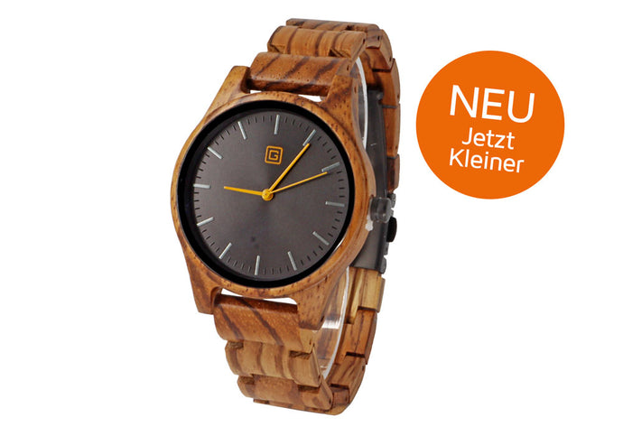 Neu: Holzuhr SUNSET Ø37mm, Limited Edition 100