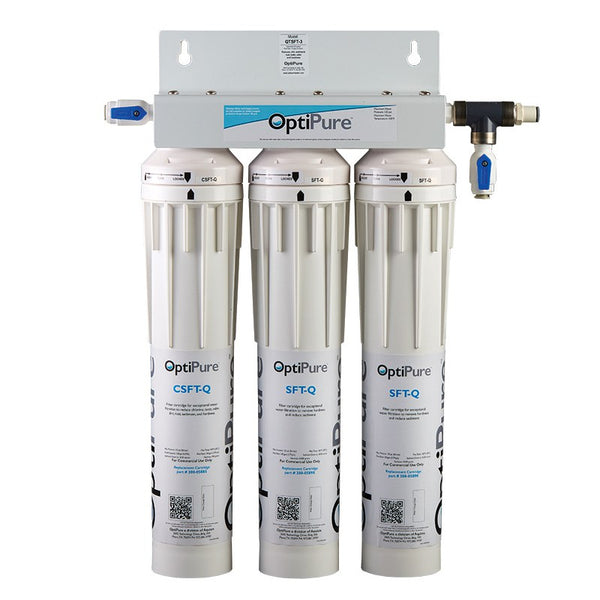 OptiPure QTSFT-3, 160-00450, Triple 15 inch Qwik-Twist Water Softening System
