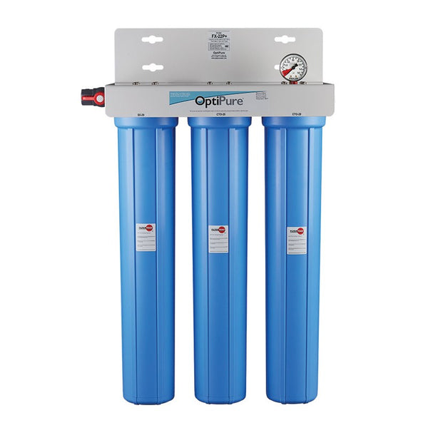 OptiPure FX-22P+, 160-50035, Triple 20 inch Carbon Water Filter System