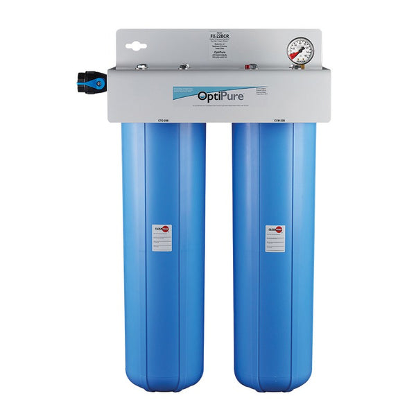 OptiPure FX-22B, 160-50042, Dual 20 inch Big Blue Carbon Water Filter System