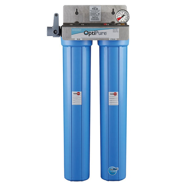 OptiPure FXI-22, 160-50115, Dual 20 inch Carbon Water Filter System, IsoNet® Scale Inhibitor