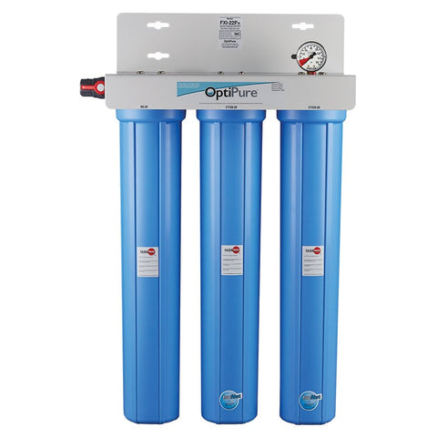 OptiPure FXI-22P+, 160-50125, Triple 20 inch Carbon Water Filter System, IsoNet® Scale Inhibitor