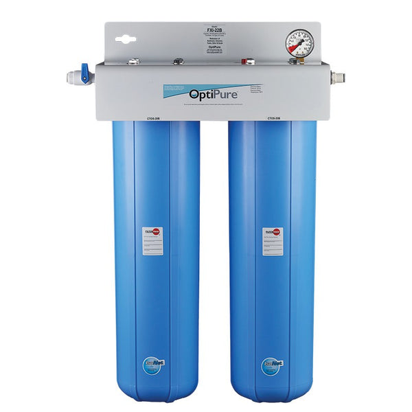 OptiPure FXI-22B, 160-50129, Dual 20 inch Big Blue Carbon Water Filter System, IsoNet® Scale Inhibitor