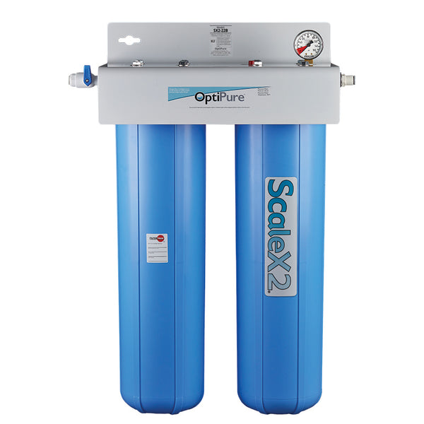 OptiPure SX2-22B, 160-50143, 20 inch Dual Big Blue ScaleX2® Water Filter System