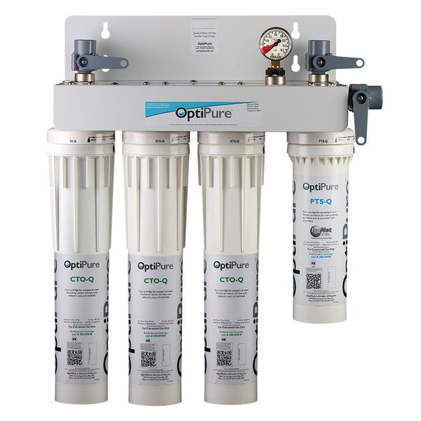 OptiPure QT3MP, 160-52070, Triple Qwik-Twist Multi-Point Water Filter System