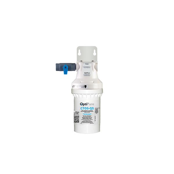 OptiPure QTI5-1, 160-52076, Single 5 inch Qwik-Twist Carbon Water Filer, IsoNet® Scale Inhibitor