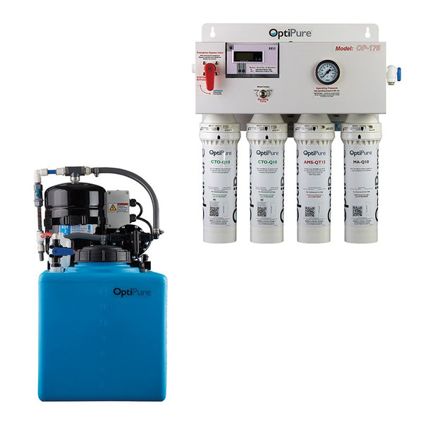 OptiPure OP175/16, 164-00216, 175+GPD Reverse Osmosis System, Mineral Addition, 16GAL Tank
