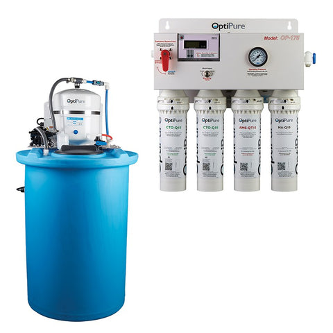 OptiPure OP175/50, 164-00225, 175+GPD Reverse Osmosis System, Mineral Addition, 50GAL Tank