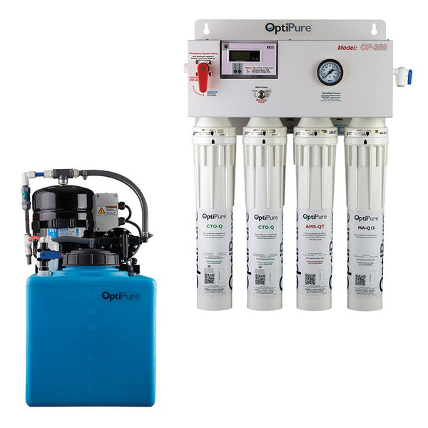 OptiPure OP350/16, 164-14416, 350GPD Reverse Osmosis System, Mineral Addition, 16GAL Tank