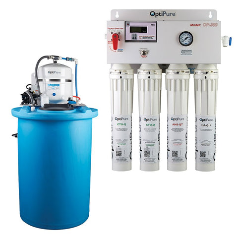 OptiPure OP350/50, 164-14450, 350GPD Reverse Osmosis System, Mineral Addition, 50GAL Tank